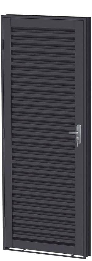 Porta de Abrir em Aço Laminada- Requadro 12 cm - Linha Prata Gerotto