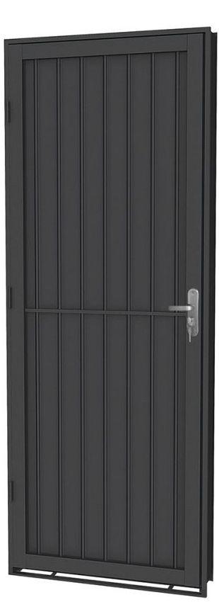 Porta de Abrir em Aço Canelada - Requadro 12 cm - Linha Prata Gerotto