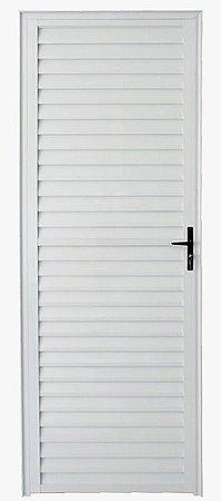 Porta de Abrir (Giro) em Alumínio Branco Palheta Sem Ventilação - Linha 25 - ESX