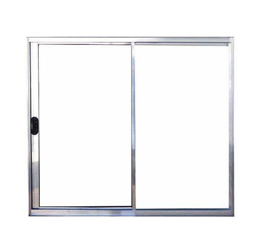 QUEIMA DE ESTOQUE - Janela de Correr em Alumínio Brilhante 2 Folhas Uma Fixa Vidro Liso Incolor - Linha Normatizada Lux Esquadrias