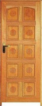 Porta Torneada 10 Almofadas Mista Maciça c/ Batente de 14 cm Misto c/ Fechadura Tambor - Rick Esquadrias