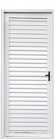PRONTA ENTREGA - Porta de Abrir (Giro) em Alumínio Branco Palheta Sem Ventilação - Linha 25 Lux Esquadrias