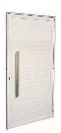 PRONTA ENTREGA - Porta De Abrir (Giro) em Alumínio Branco Com Lambril Puxador - Linha Top Esquadrisul