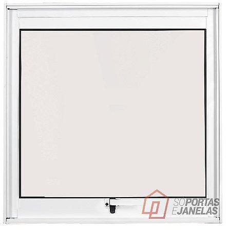 PRONTA ENTREGA - Janela Maxim-ar em Alumínio Branco uma Seção sem Grade Vidro Mini Boreal - Linha Max Lux Esquadrias