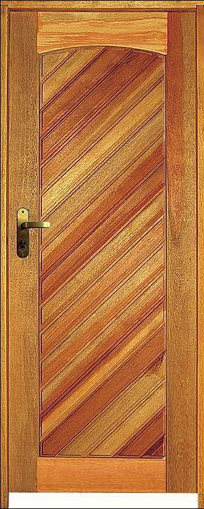 Porta Mexicana Diagonal Mista Maciça c/ Batente de 14 cm c/ Fechadura Taco de Golf - Rick Esquadrias