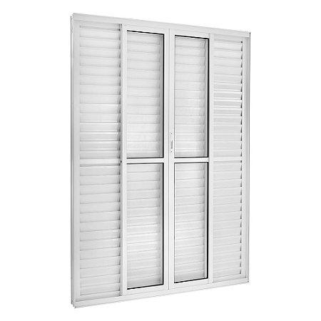 Porta Balcão 6 Folhas Alumínio Branco Req. 11,5 cm - Linha Topsul - Esquadrisul
