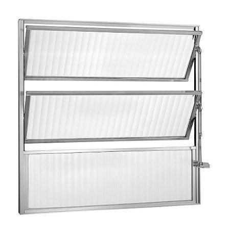PRONTA ENTREGA - Janela Basculante em Alumínio Brilhante uma Seção Vidro Mini Boreal - Linha Moderna - Esquadrisul