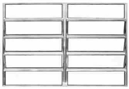 Janela Basculante em Alumínio Brilhante 2 Seções Vidro Mini Boreal - Lux Esquadrias