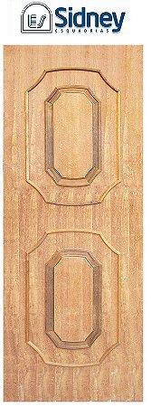 Porta de Abrir (Giro) Montada Es-05 Imbuia Moldurada lado Externo. Fechadura e Maçaneta Roseta Externa Batente de 12 cm - Sidney Esquadrias