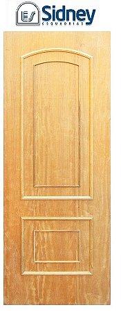 Porta de Abrir (Giro) Montada Es-11 Imbuia Moldurada lado Externo. Fechadura e Maçaneta Roseta Externa Batente de 12 cm - Sidney Esquadrias