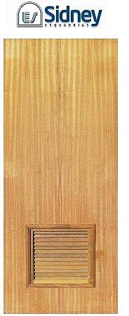 Porta de Abrir (Giro) Montada Imbuia Ventilada Fechadura e Maçaneta Roseta Externa Batente de 12 cm - Sidney Esquadrias