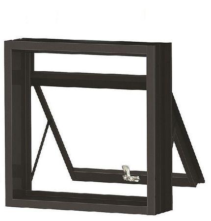 Janela Maxim-Ar em Aço uma Seção Sem Grade sem Vidro - Requadro 12 cm - Linha Prata Gerotto