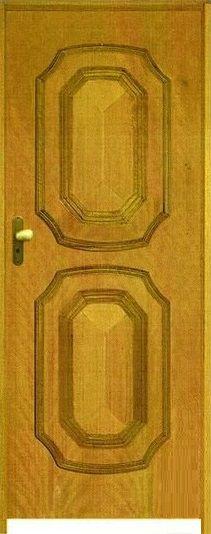 Porta 2 Brasões Padrão Imbuia c/ Batente de 11 cm Misto c/ Fechadura Tambor - Rick Esquadrias
