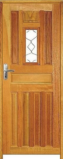 Porta Entrada Mista Maciça c/ Batente de 14 cm Misto c/ Fechadura Taco de Golf - Rick Esquadrias