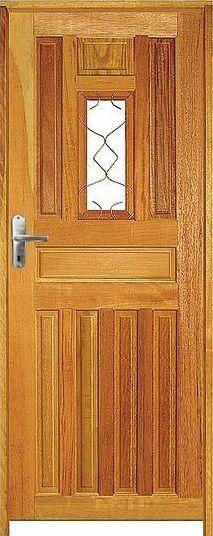 Porta Entrada Mista Maciça c/ Batente de 11 cm Misto c/ Fechadura Tambor - Rick Esquadrias