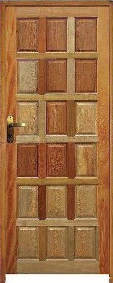 Porta Topázio 18 Almofadas Mista Maciça c/ Batente de 11 cm Misto c/ Fechadura Tambor - Rick Esquadrias