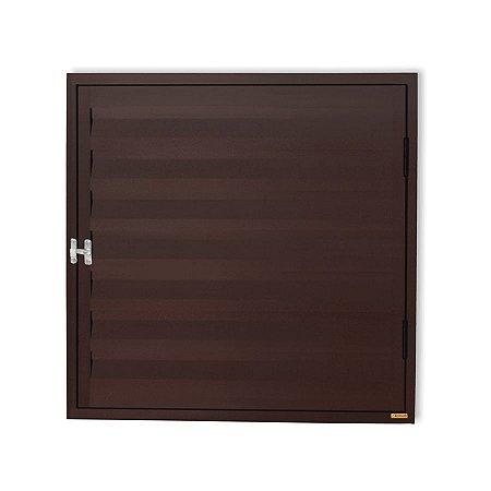 Porta Abrigo D'Água / Gás 1 Folha c/ Ventilação em Alumínio Corten - Brimak Plus