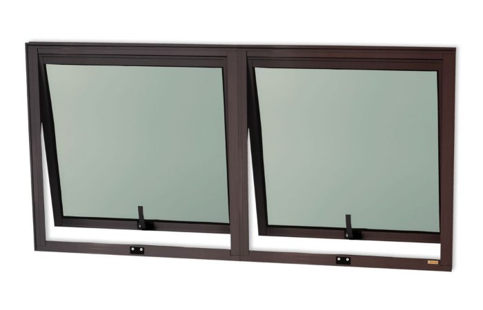 Maxim-Ar 2 Seções em Alumínio Corten c/ Vidro Mini Boreal - Brimak Confort
