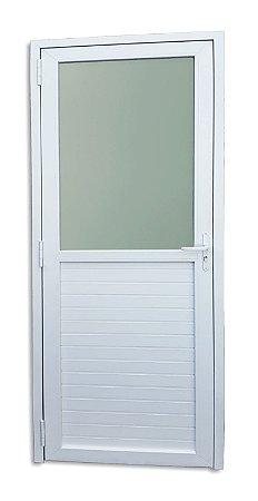 Porta de PVC Itec Mista Fechada e c/ Vidro Mini Boreal - Brimak