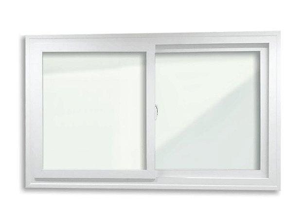 Janela de Correr 2 Folhas Acústica Sobrepor em PVC c/ Vidro Laminado de 5 milímetros - Brimak Itec