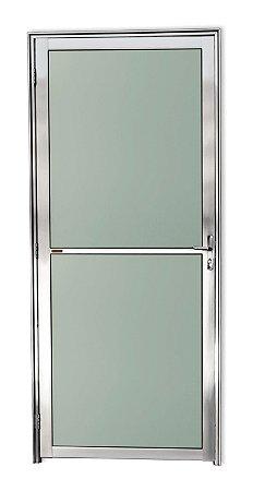 Porta Vidrão em Alumínio Brilhante c/ Vidro Mini Boreal - Brimak Super 25