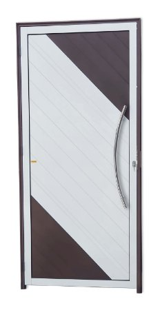 Porta Lambril Savana c/ Puxador Athenas Polido c/ Fechadura Rolete em Alumínio Mix Corten - Brimak Super 25