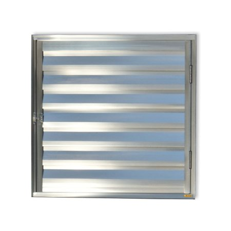 Porta Abrigo D'Água / Gás 1 Folha c/ Ventilação em Alumínio Brilhante - Brimak Plus