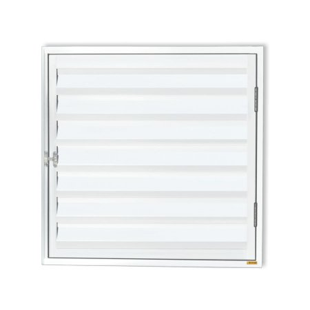 Porta Abrigo D'Água / Gás 1 Folha c/ Ventilação em Alumínio Branco - Brimak Plus