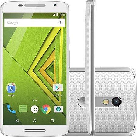 Motorola Moto X Play Xt1563 32gb 4g Dual Chip Original 21mpx Branco - PRODUTO REEMBALADO