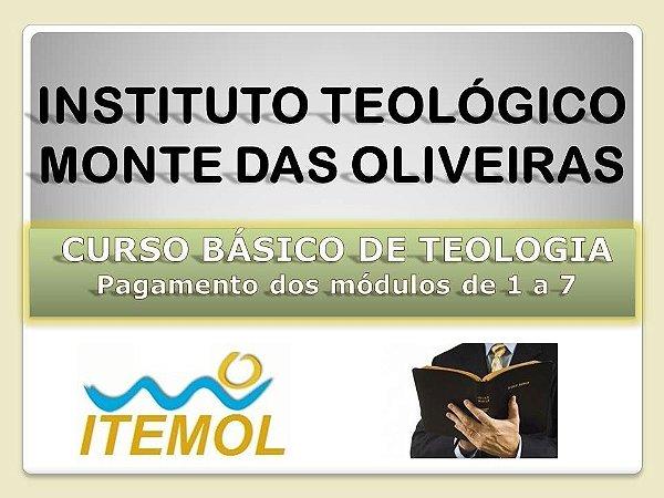 Curso Básico de Teologia - Pagamento dos módulos de 1 a 7