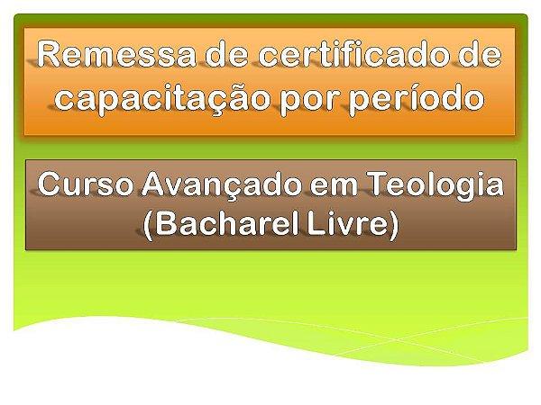 Requerimento - Curso Avançado em Teologia - Certificado de Capacitação por Período
