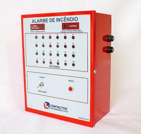 Central de Alarme de Incêndio - 24 Setores