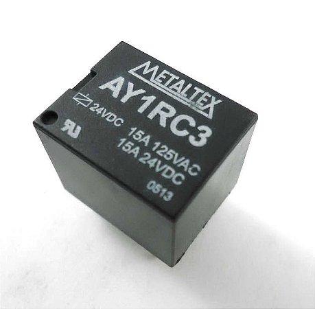 Rele 5 pinos Metaltex (AY1RC-5V / AY1RC2-12V / AY1RC3-24V)