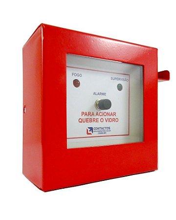 Botoeira Chave para Alarme de Incêndio