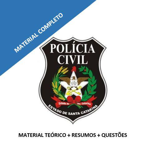 Polícia Civil/SC - teoria + resumos + 458 questões comentadas (90 em simulados)