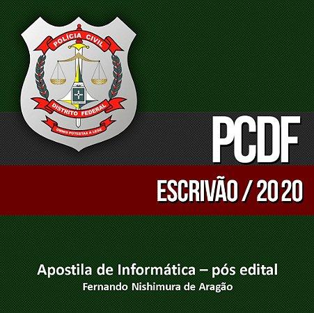Polícia Civil/DF (pós-edital) - Escrivão (concurso suspenso) 300 vagas