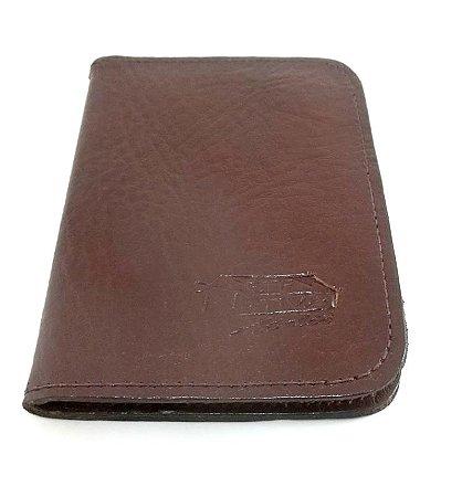 Carteira Porta Documentos em Couro Legitimo com 6 Compartimentos