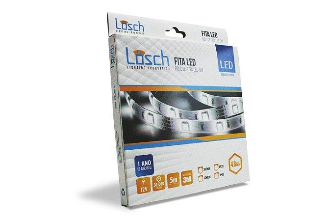 FITA LED 12V 4,8W 3000K IP65 5M LOSCH