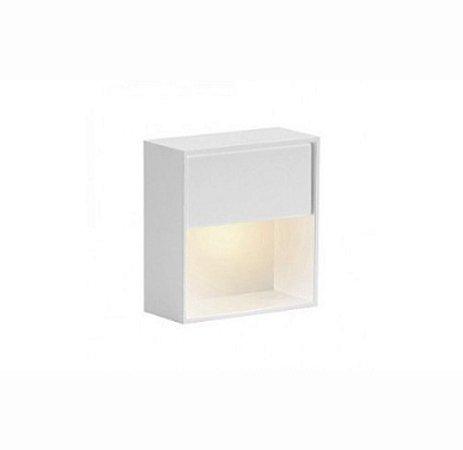 BALIZADOR LED DE SOBREPOR BRANCO 76X76X30MM