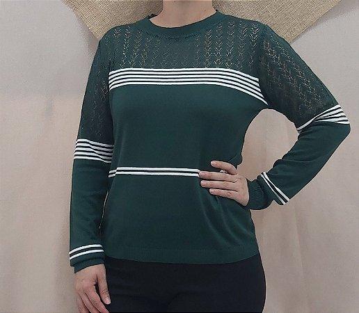 Blusa verde rendada