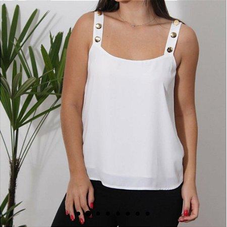 Blusa de alça off white