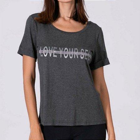 T-shirt cinza escura