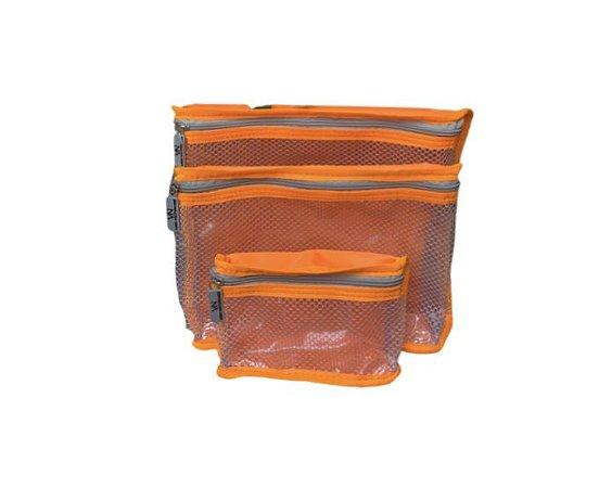 Kit nylon plastificado laranja
