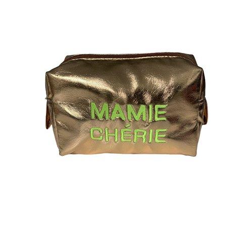 Necessaire quadradinha dourada Cherie