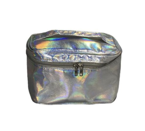 Frasqueira prata holográfica