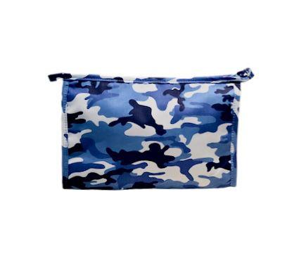 Necessaire Trancoso camuflado azul