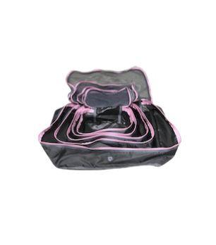 Kit nylon cinza com rosa