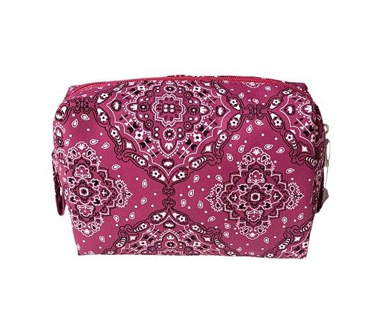 Necessaire Quadradinha bandana rosa