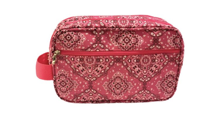 Necessaire dupla Tho bandana rosa