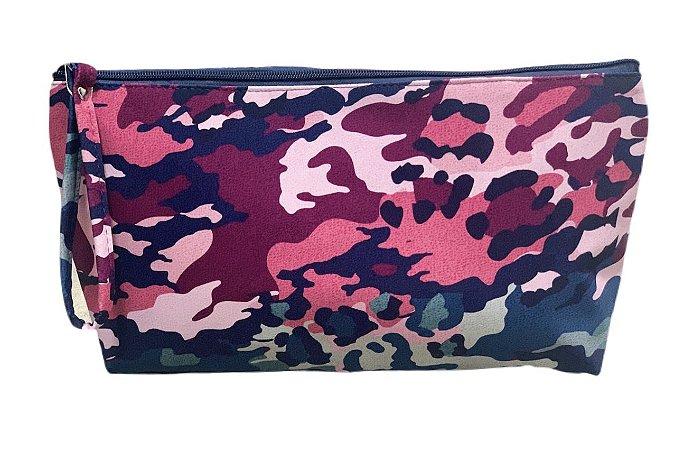 Necessaire Vertical G camuflado colorido